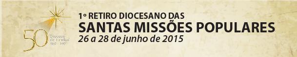 Santas Missões tempo especial de evangelização